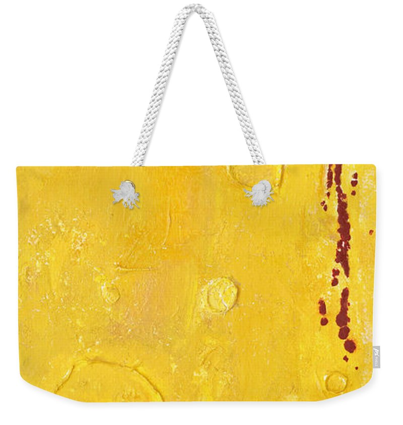 Mixed Media Weekender Tote Bag featuring the mixed media Yellow by Jaime Becker