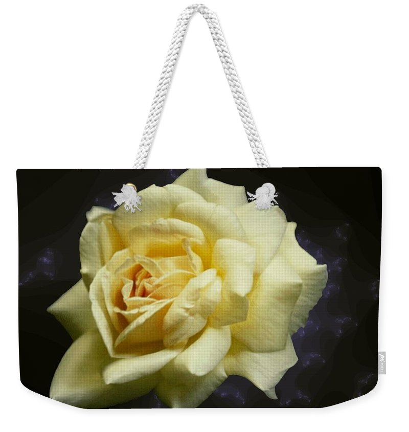 Yellow Rose Weekender Tote Bag featuring the photograph Yellow Rose 2 by Tim Allen