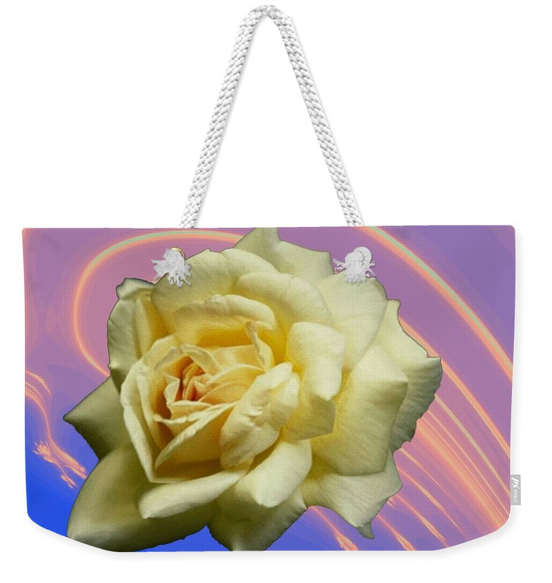 Rose Weekender Tote Bag featuring the photograph Yellow Rose 3 by Tim Allen