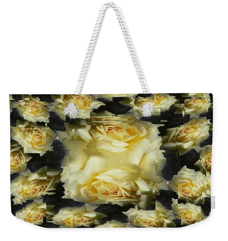 Rose Weekender Tote Bag featuring the photograph Yellow Roses 2 by Tim Allen