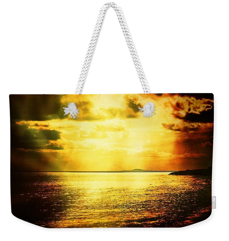 Landscape Weekender Tote Bag featuring the photograph Yellow Sea by Jean-baptiste Ols