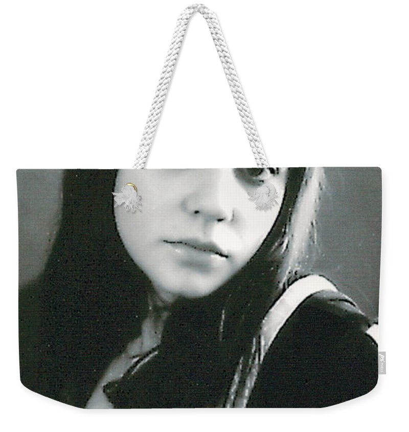 Young Girl Weekender Tote Bag featuring the photograph Yellow Spot by Bjorn Sjogren