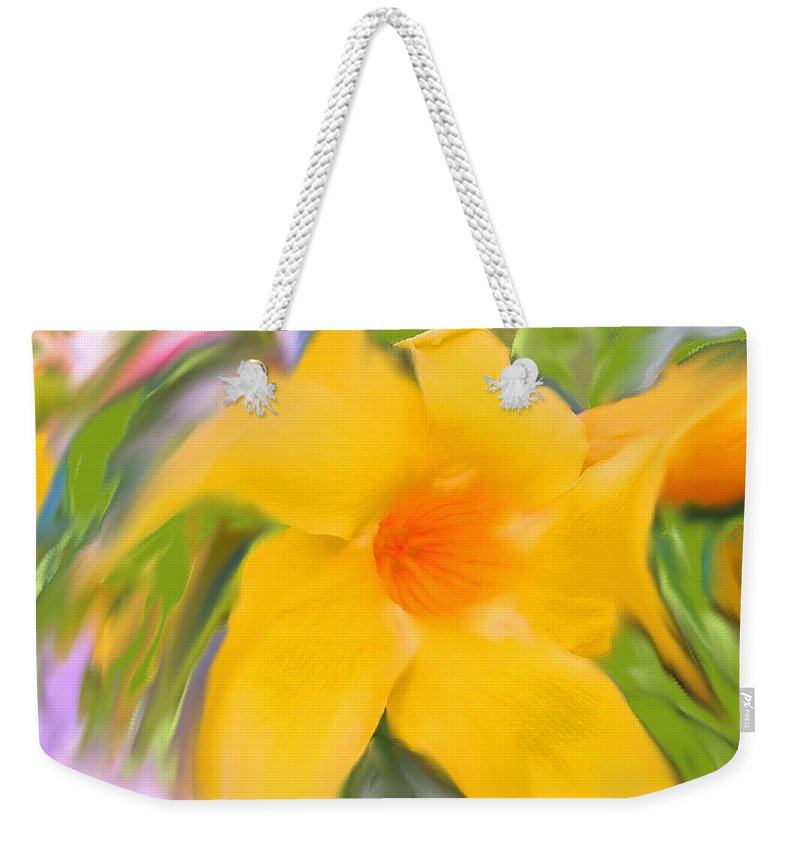 Yellow Weekender Tote Bag featuring the photograph Yellow Stretch by Ian MacDonald