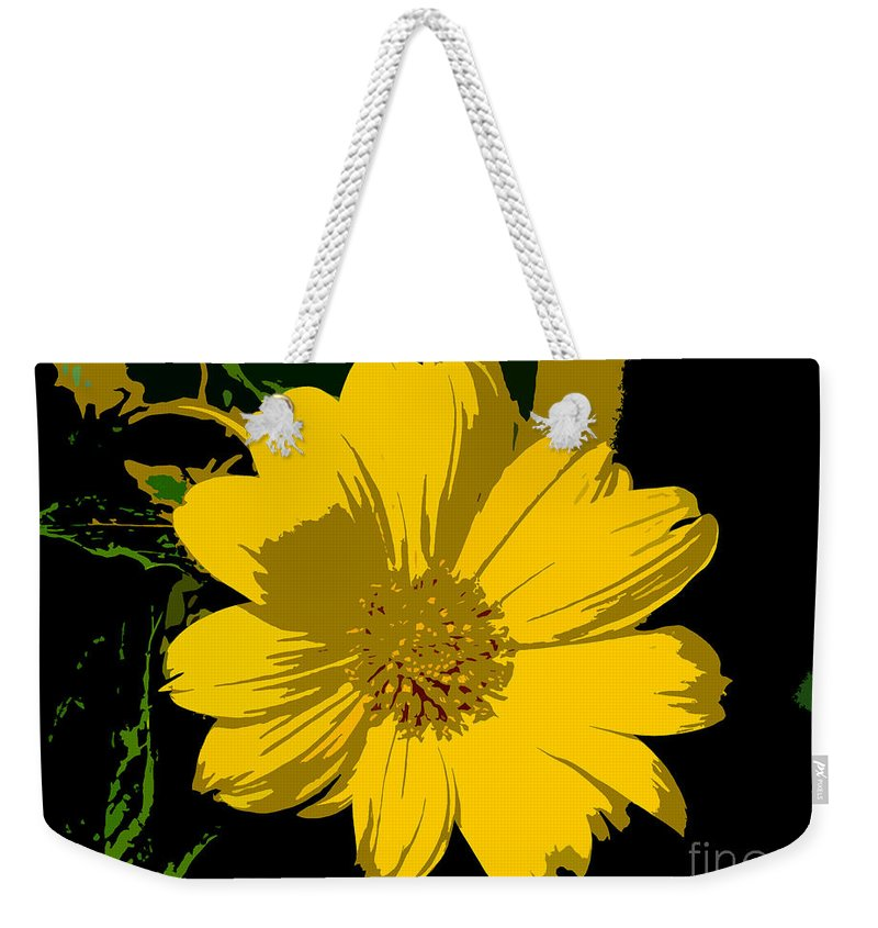 Flower Weekender Tote Bag featuring the photograph Yellow Sunshine Work Number 8 by David Lee Thompson