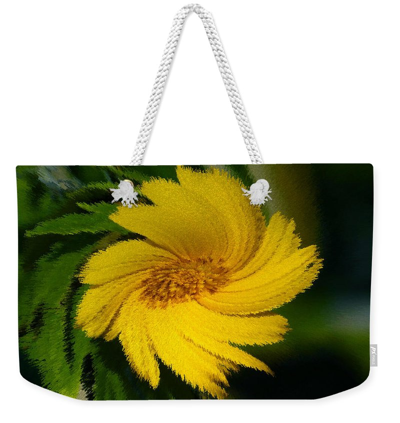 Yellow Weekender Tote Bag featuring the painting Yellow Wonder by David Lee Thompson