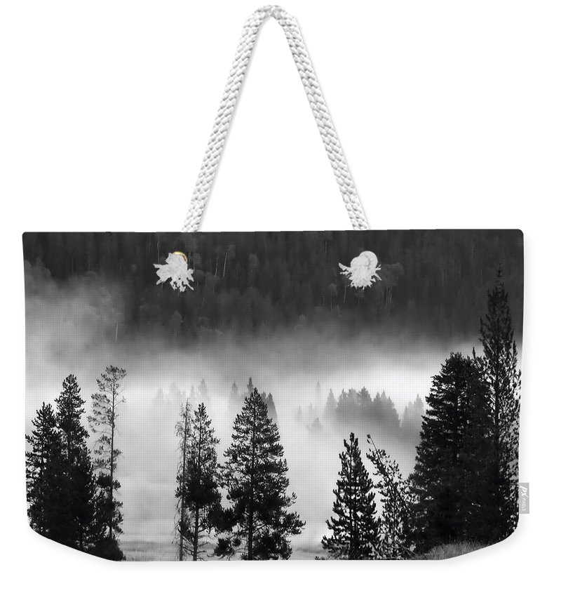 America Weekender Tote Bag featuring the photograph Yellowstone 157 by Ingrid Smith-Johnsen