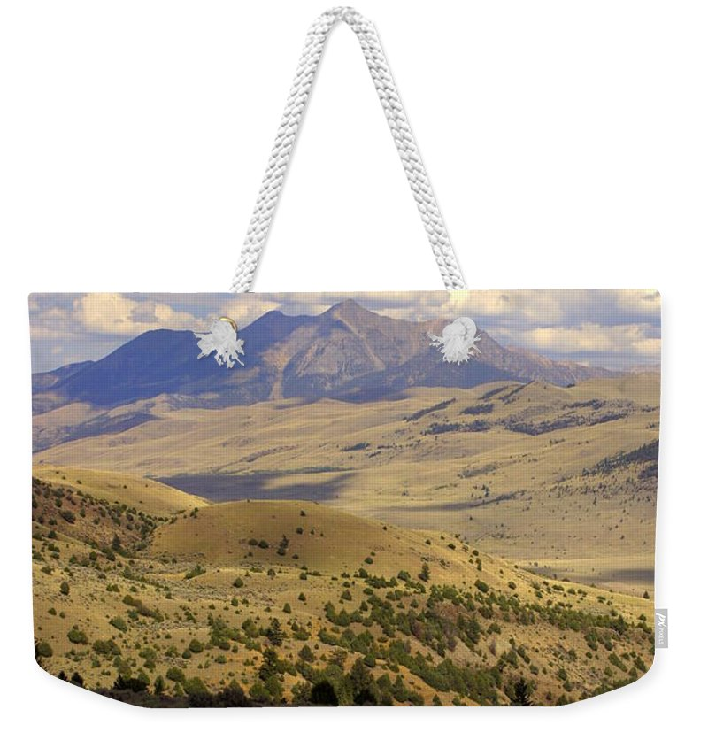Yellowstone National Park Weekender Tote Bag featuring the photograph Yellowstone View by Marty Koch