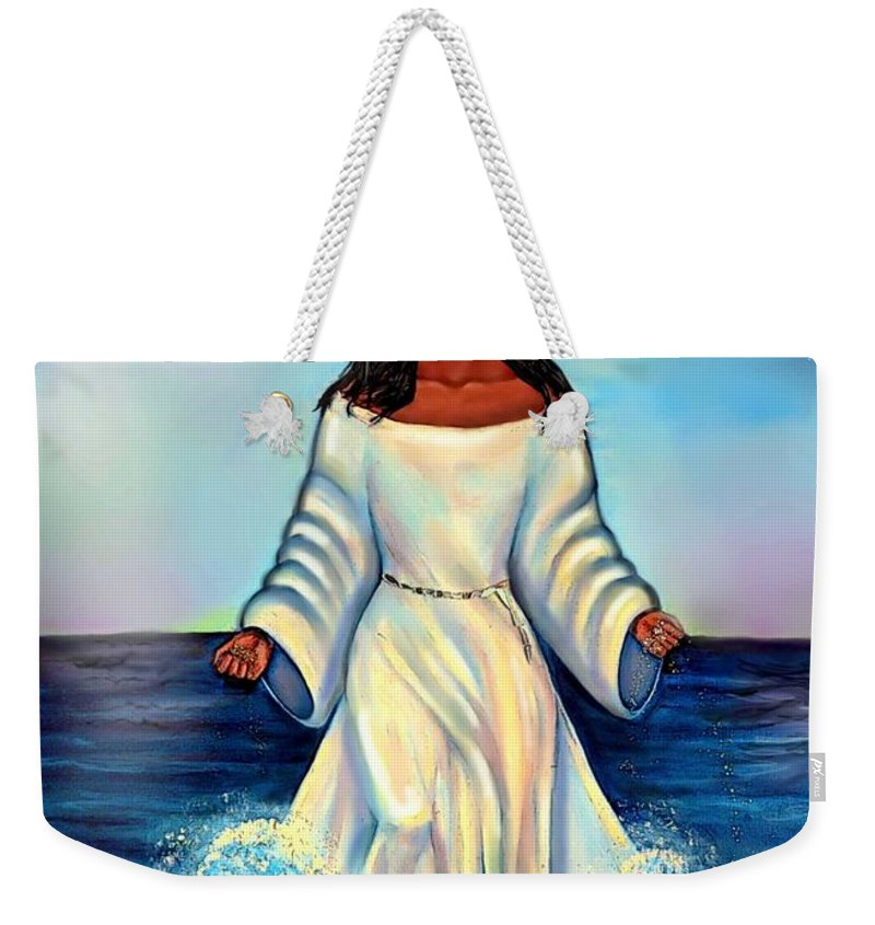 Yemaya Weekender Tote Bag featuring the digital art Yemaya- Mother Of All Orishas by Carmen Cordova