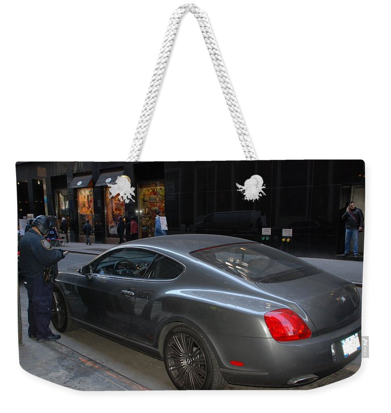 Police Weekender Tote Bag featuring the photograph Yes  Write Him Up Cop by Rob Hans