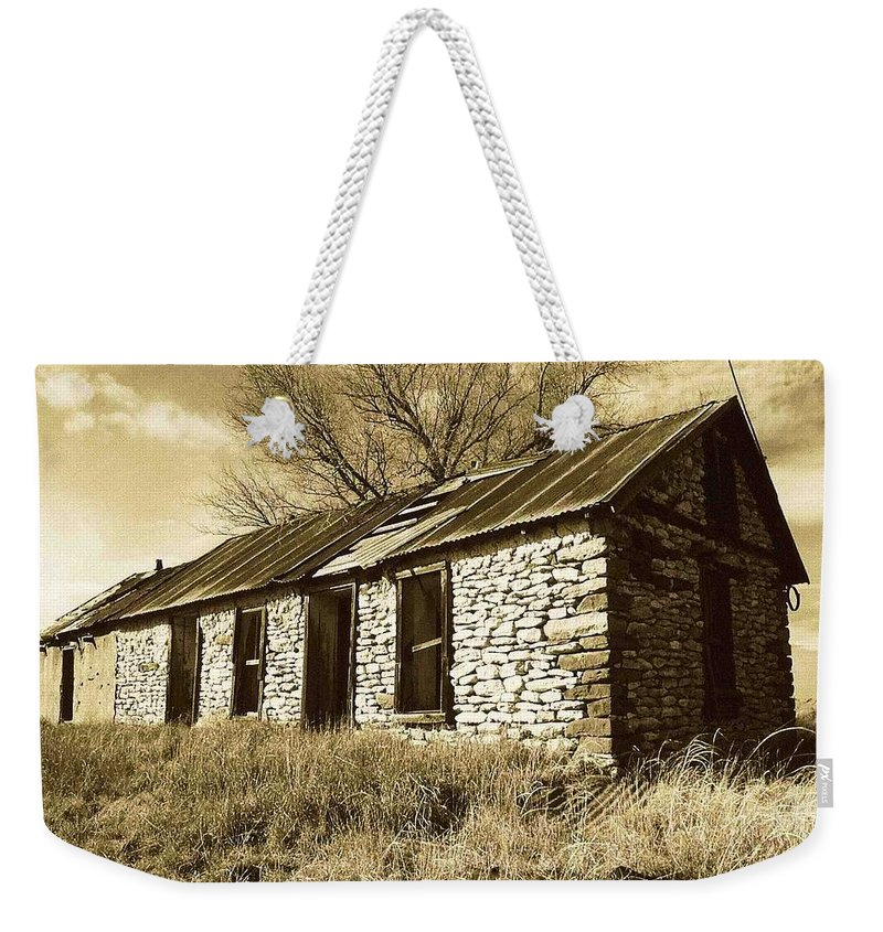 New Mexico Weekender Tote Bag featuring the photograph Yeso New Mexico 1 by Nelson Strong