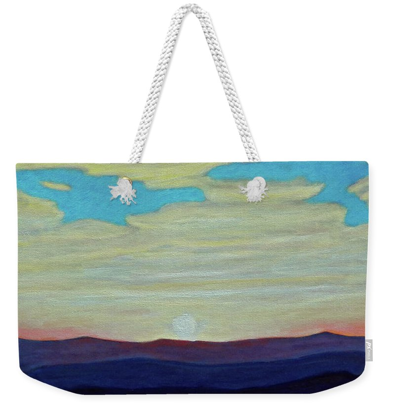 Landscape Weekender Tote Bag featuring the painting Yesterday by Brian Commerford