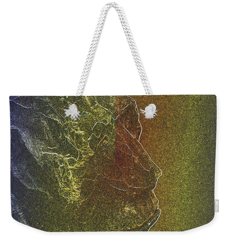 Yeti Weekender Tote Bag featuring the photograph Yeti by Tim Allen