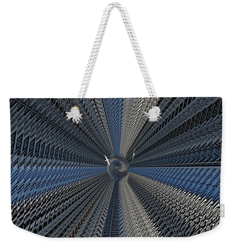 Yin And Yang Weekender Tote Bag featuring the digital art Yin And Yang Revisited by Tim Allen