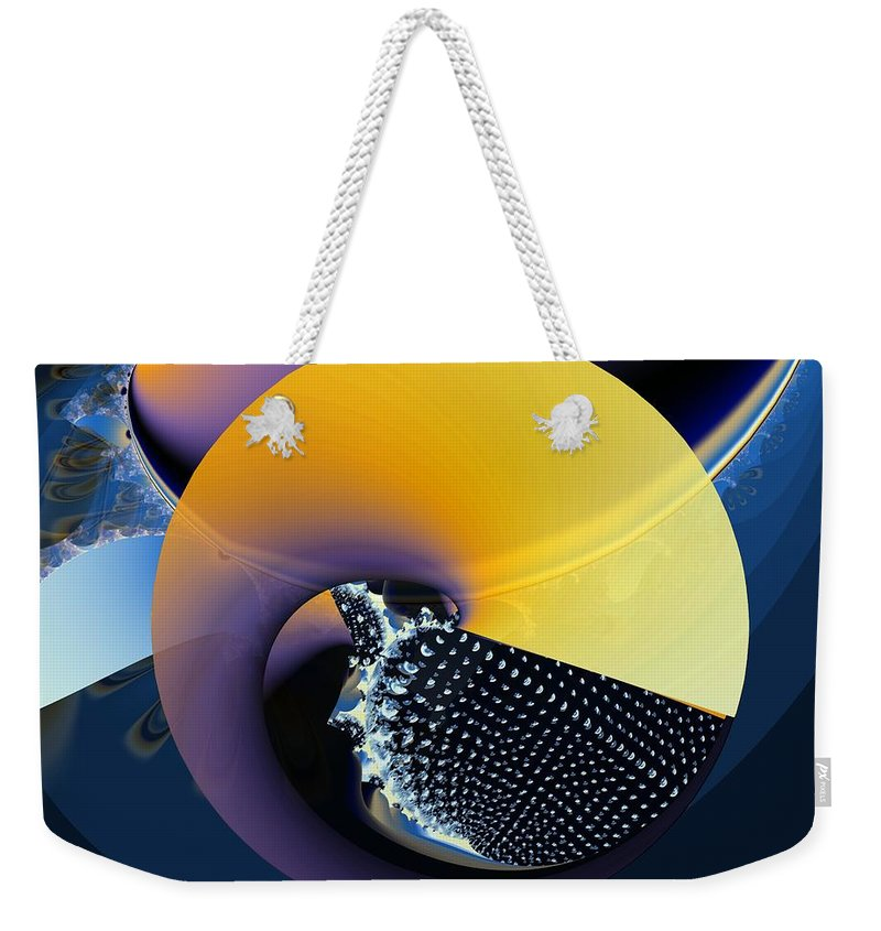 Yin-yang Weekender Tote Bag featuring the digital art Yin-yangy by Ron Bissett