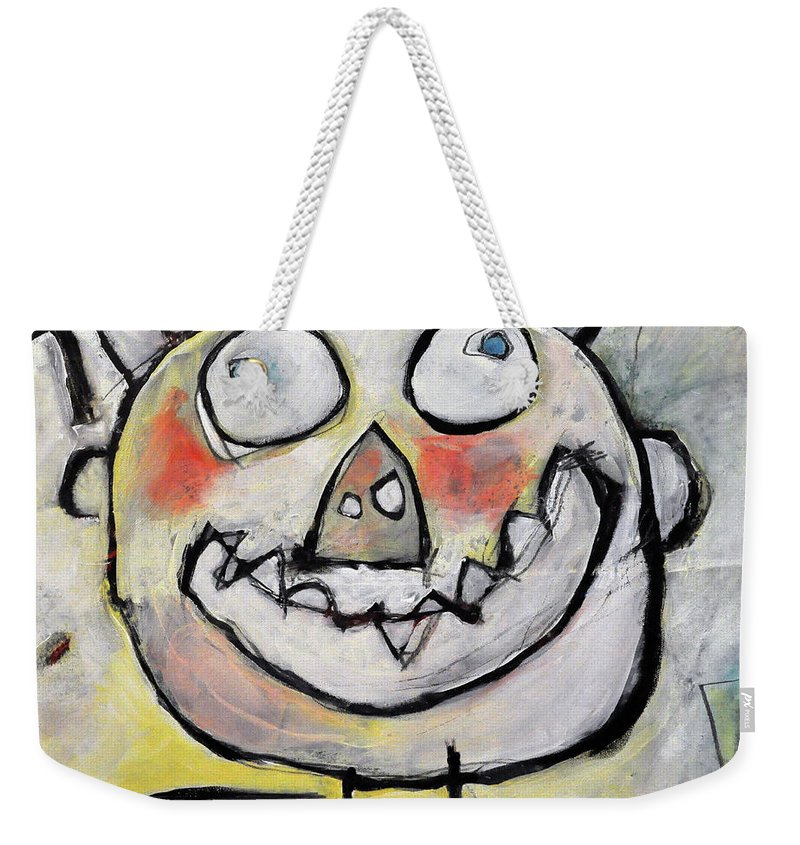 Kids' Drawing Weekender Tote Bag featuring the painting Ymmit by Tim Nyberg