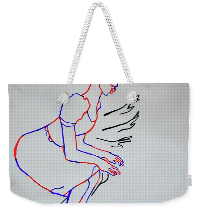 b2f81f7030 Jesus Weekender Tote Bag featuring the painting Yoruba Bata Dance - Nigeria  by Gloria Ssali