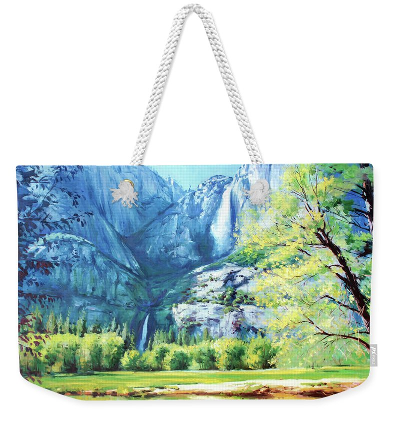 Yosemite National Park Weekender Tote Bag featuring the painting Yosemite Park by Conor McGuire