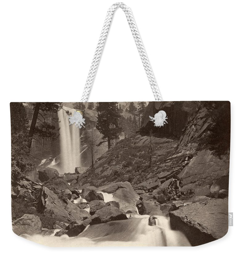 1860 Weekender Tote Bag featuring the photograph Yosemite: Vernal Fall by Granger