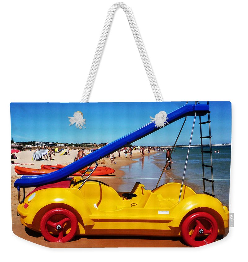 Noddy Car Weekender Tote Bag featuring the photograph You Are What You Drive by Charles Stuart