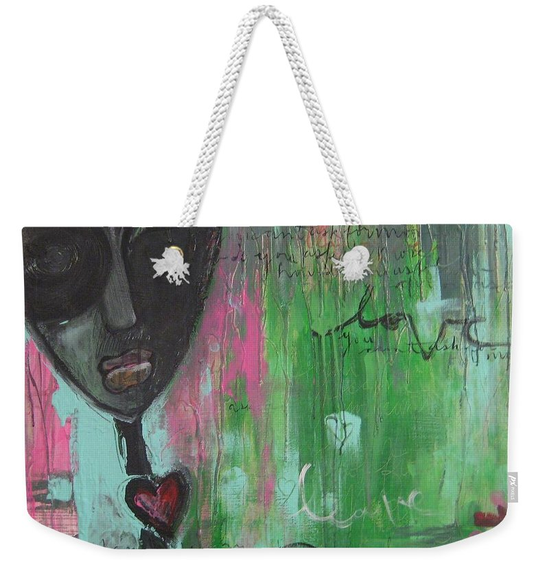 Figurative Weekender Tote Bag featuring the painting You Cant Ask For More by Laurie Maves ART