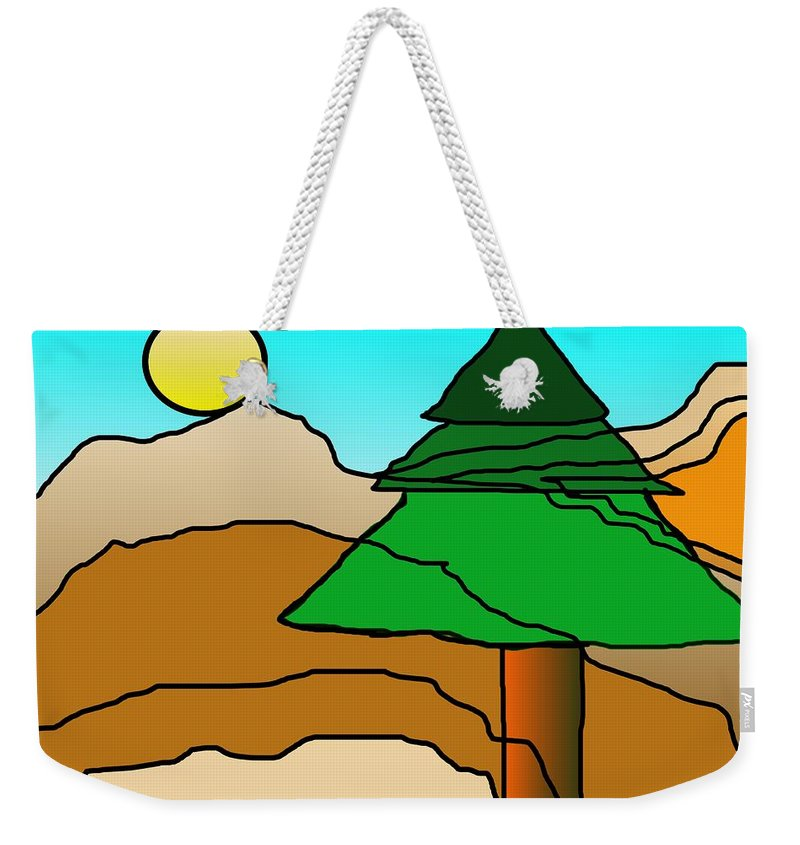 Digital Art Weekender Tote Bag featuring the digital art You Dared Me by David Lane