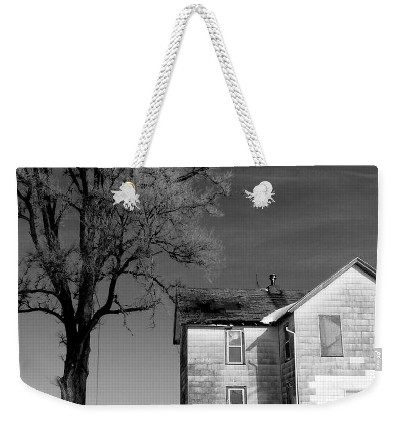 Iowa Weekender Tote Bag featuring the photograph You Know Its Not No Easy Life by David Bearden