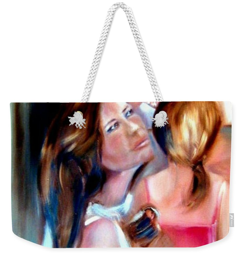 Mother Weekender Tote Bag featuring the painting You Would Have Loved Her by Sandy Ryan