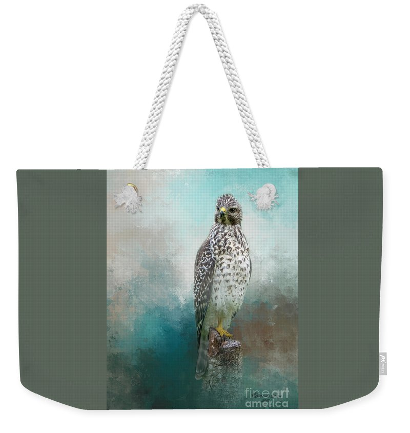 Bird Weekender Tote Bag featuring the mixed media Young Eyes by Marvin Spates