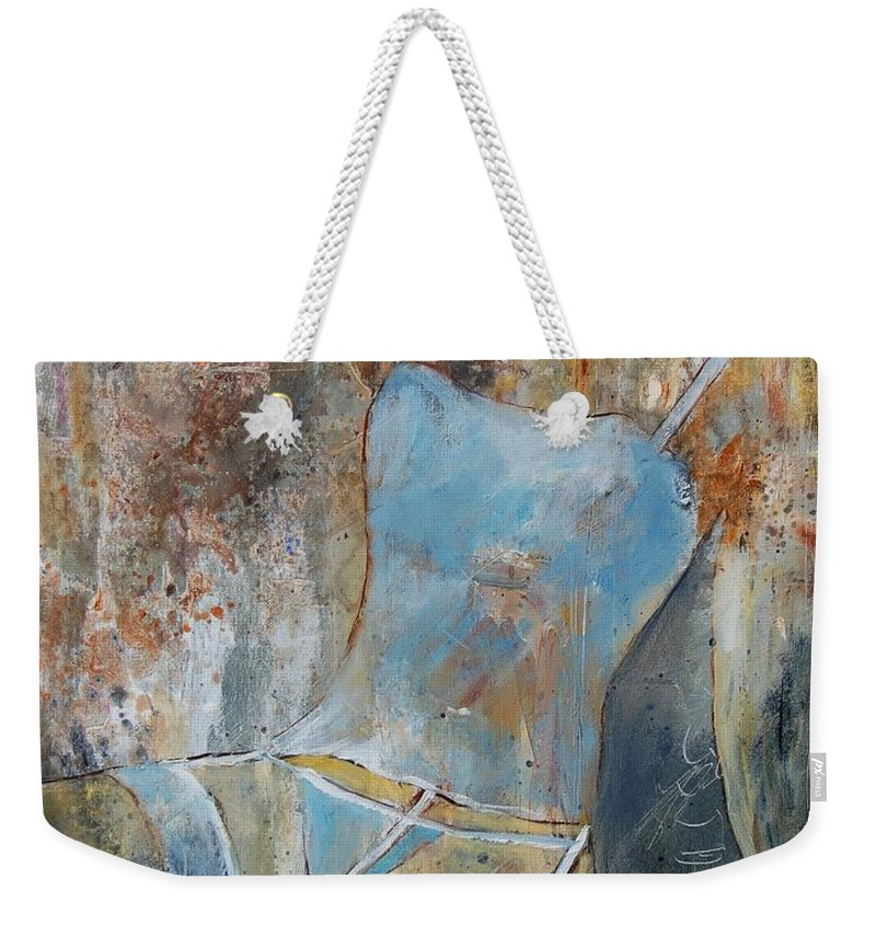 Nude Weekender Tote Bag featuring the painting Young Girl 451108 by Pol Ledent