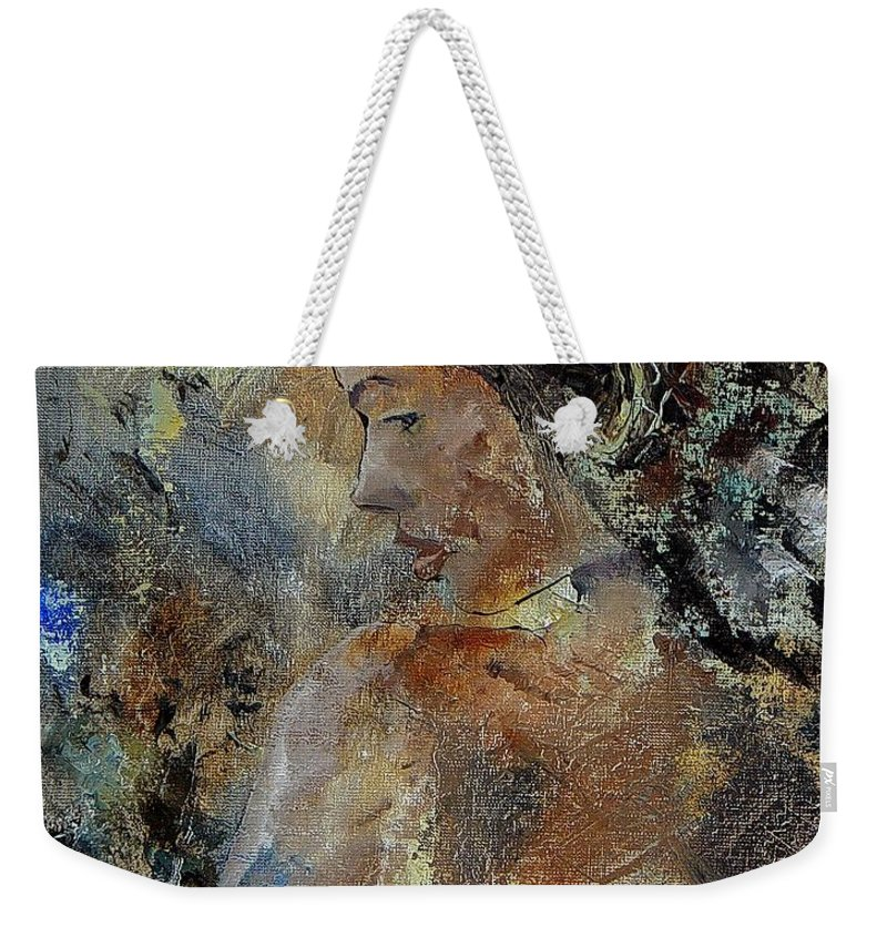 Girl Weekender Tote Bag featuring the painting Young Girl 45156987 by Pol Ledent