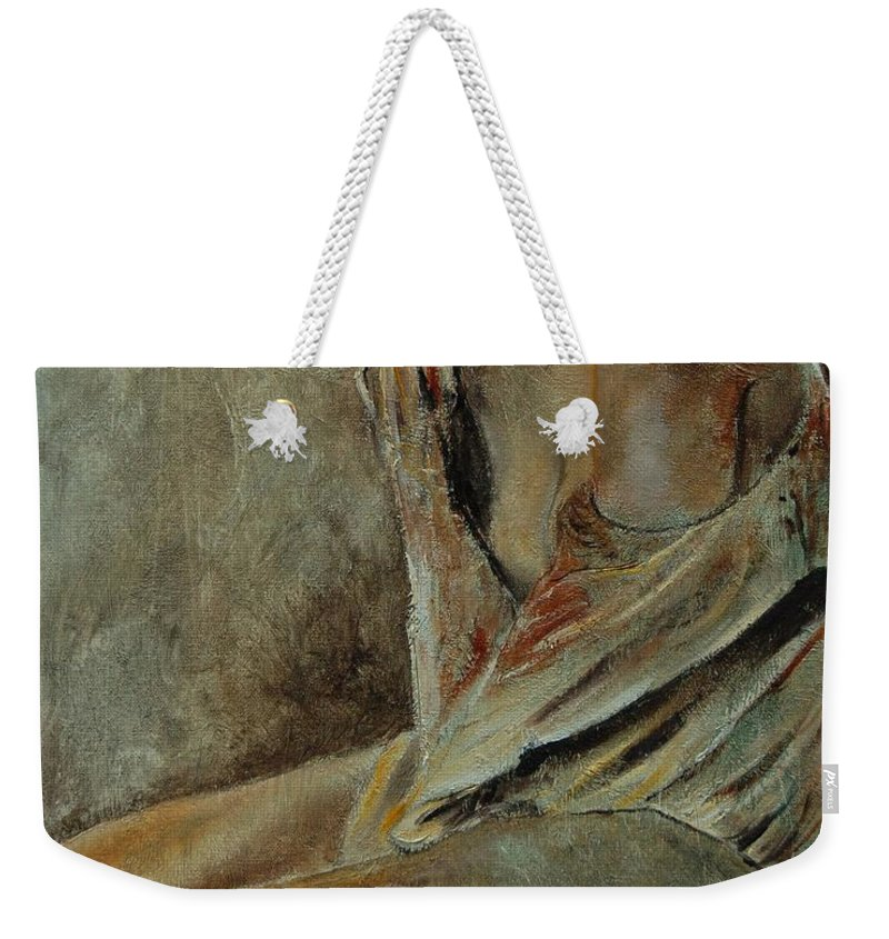 Gir Weekender Tote Bag featuring the painting Young Girl 45905040 by Pol Ledent