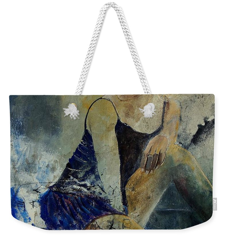Nude Weekender Tote Bag featuring the painting Young Girl 5689474 by Pol Ledent