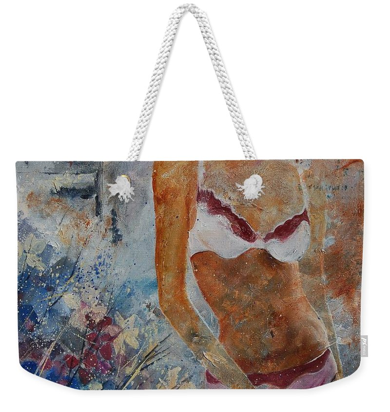 Girl Weekender Tote Bag featuring the painting Young Girl 5689652 by Pol Ledent