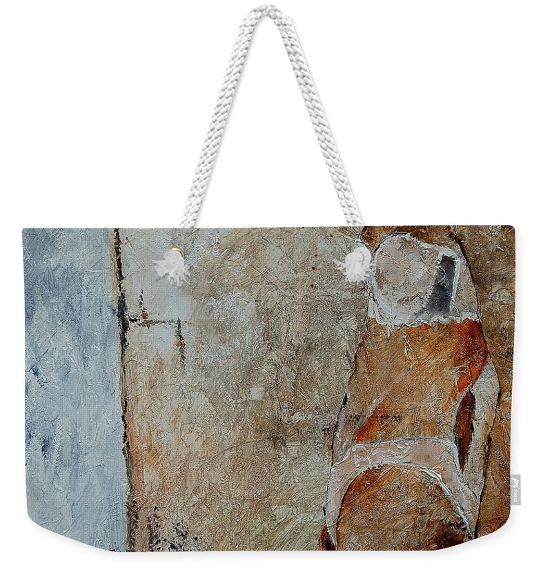 Weekender Tote Bag featuring the painting Young Girl 572563 by Pol Ledent