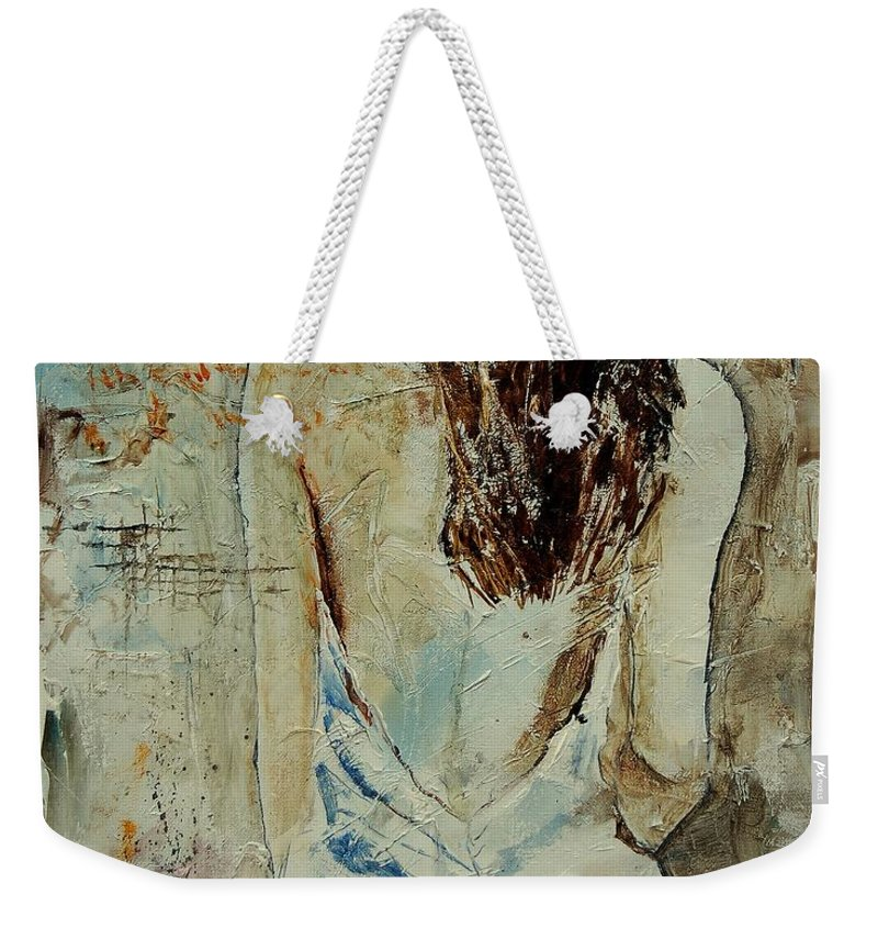 Nude Weekender Tote Bag featuring the painting Young Girl 64 by Pol Ledent