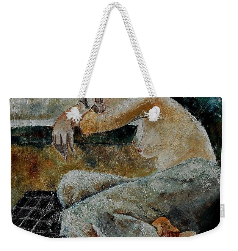 Girl Weekender Tote Bag featuring the painting Young Girl 679050 by Pol Ledent