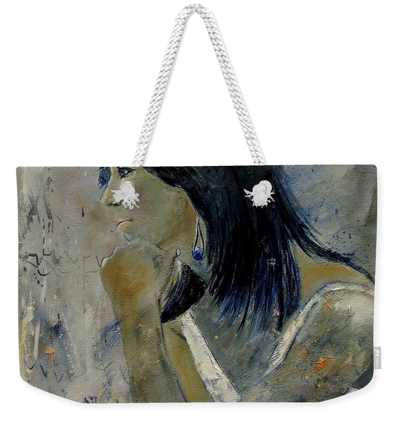 Girl Weekender Tote Bag featuring the painting Young Girl Eg569090 by Pol Ledent