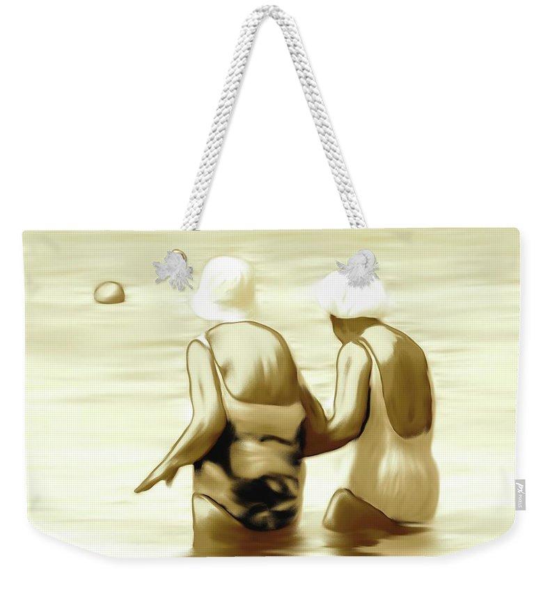 Women Weekender Tote Bag featuring the digital art Young Minds by Elisabeth Skajem Atter