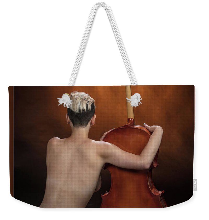 Nude Weekender Tote Bag featuring the photograph Young Woman Nude 1729.190 by Kendree Miller