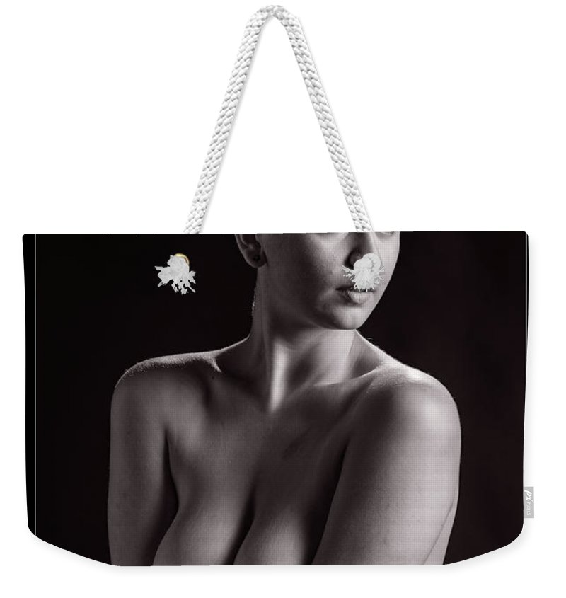 Nude Weekender Tote Bag featuring the photograph Young Woman Nude 1729.559 by Kendree Miller