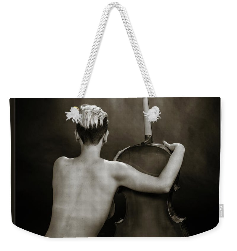 Nude Weekender Tote Bag featuring the photograph Young Woman Nude 1729.565 by Kendree Miller