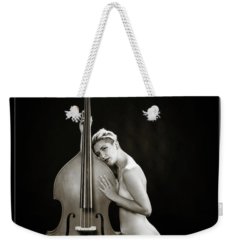 Nude Weekender Tote Bag featuring the photograph Young Woman Nude 1729.570 by Kendree Miller