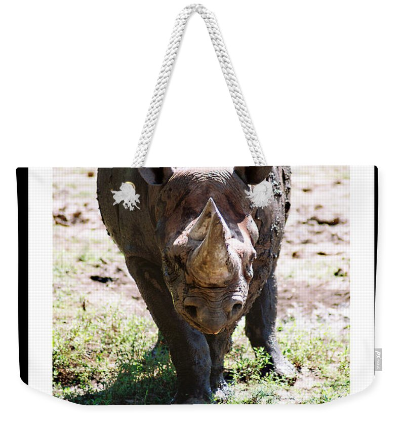 Rhino Weekender Tote Bag featuring the photograph Your Point Is by Steve Karol