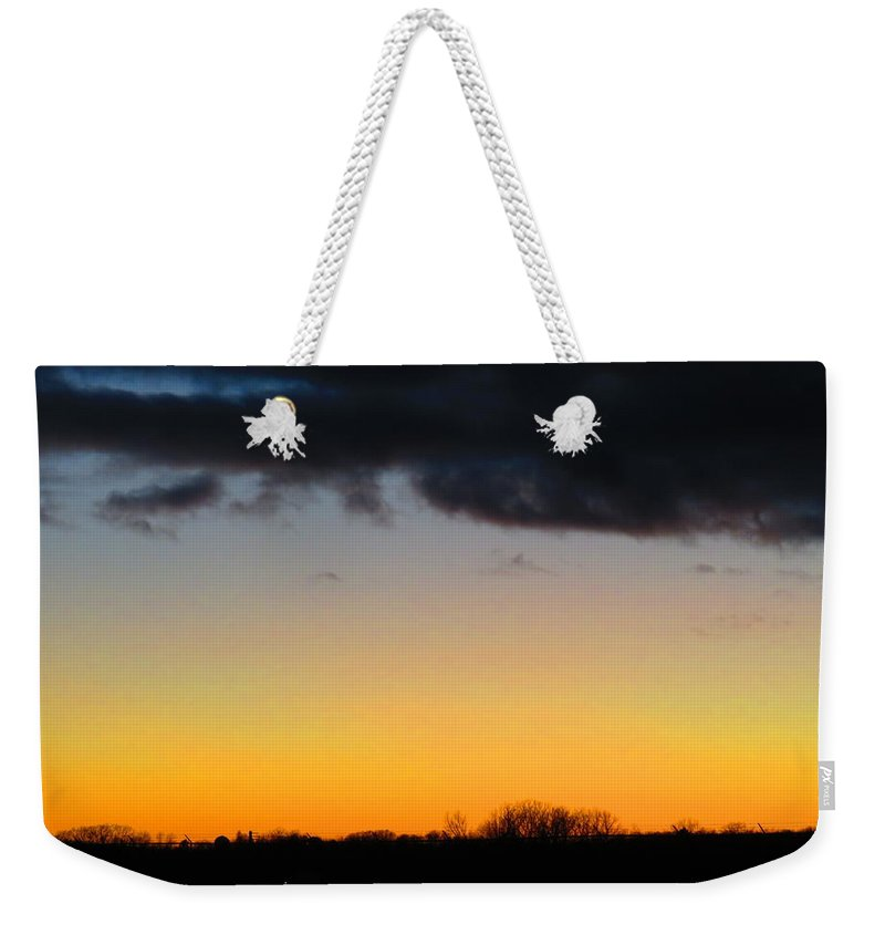 Spring Weekender Tote Bag featuring the photograph Gorgeous Sunset by Chris Partridge