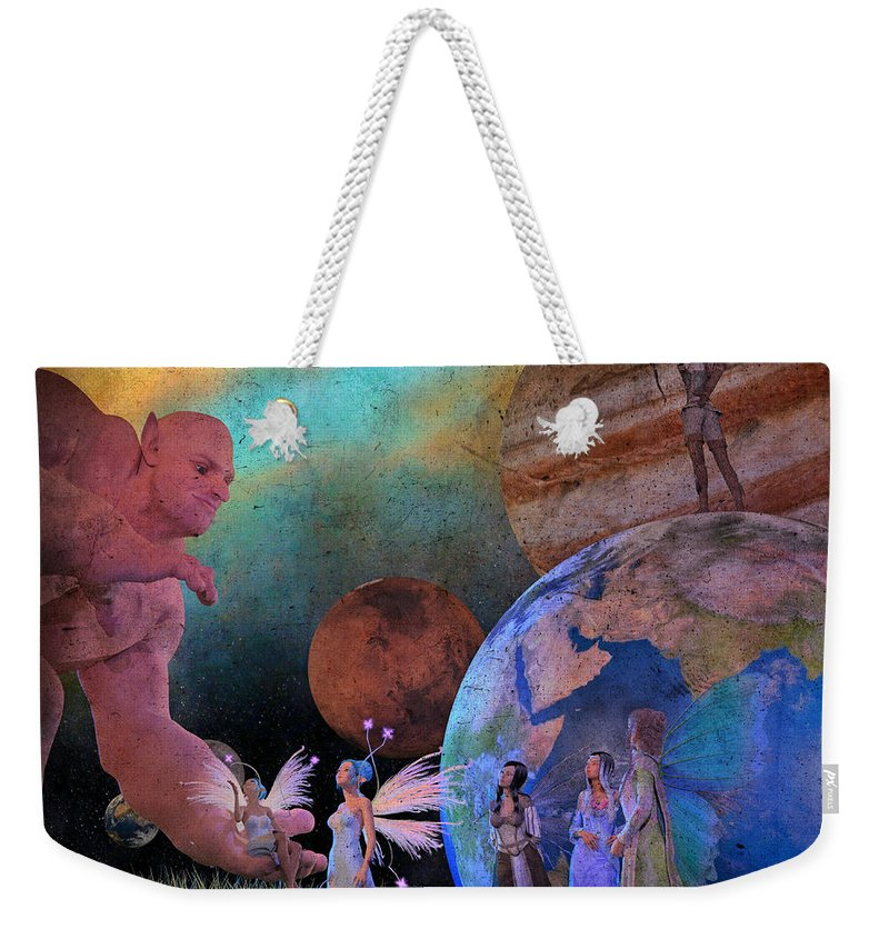 Render Weekender Tote Bag featuring the digital art You're Safe In My Hands by Betsy Knapp