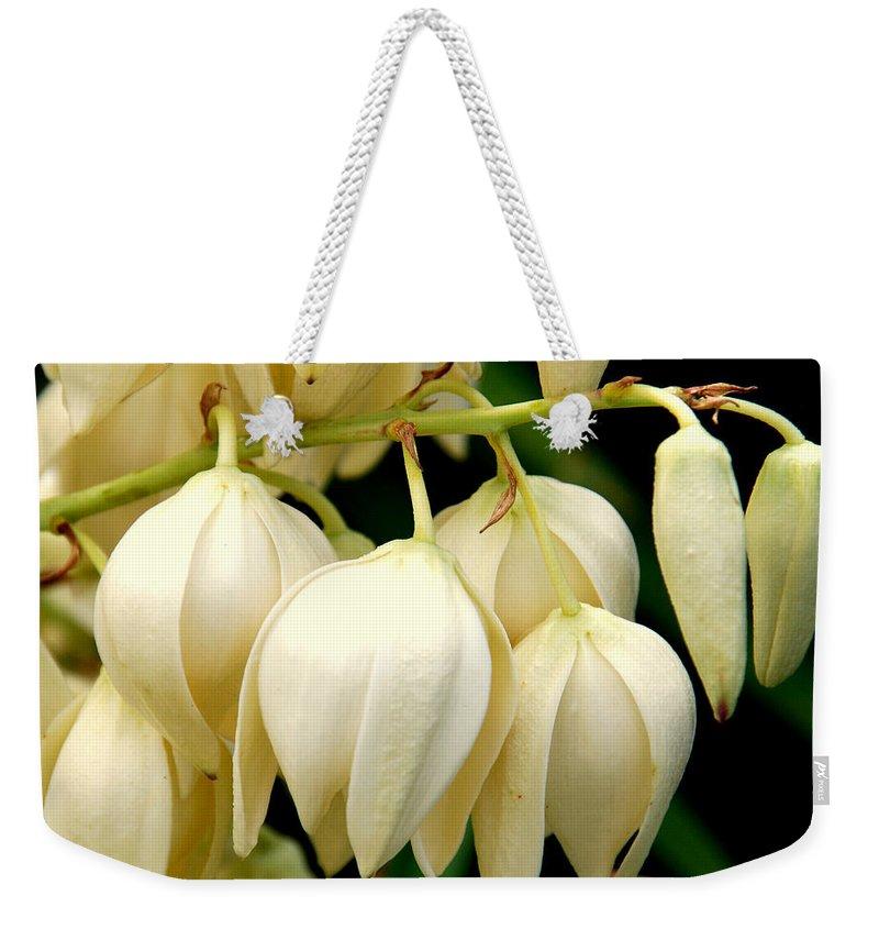 Yuca Weekender Tote Bag featuring the photograph Yucca Flower by Susanne Van Hulst