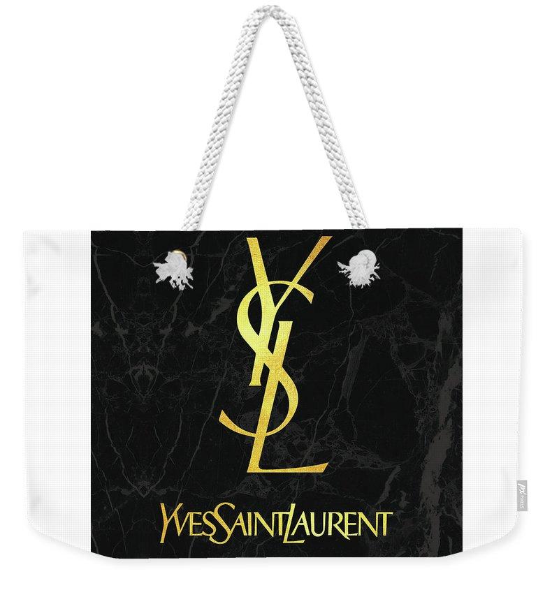 218aeb20749 Yves Saint Laurent Weekender Tote Bag featuring the digital art Yves Saint  Laurent - Ysl -