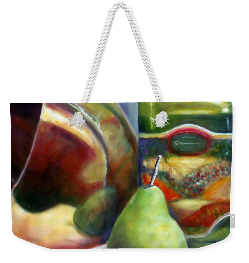 Copper Vessel Weekender Tote Bag featuring the painting Zabaglione Pan by Shannon Grissom
