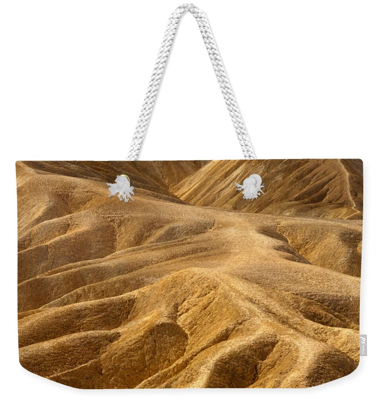 Hills Weekender Tote Bag featuring the photograph Zabriskie Morning by Mike Dawson