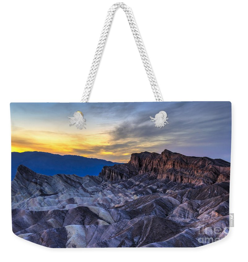 Adventure Weekender Tote Bag featuring the photograph Zabriskie Point Sunset by Charles Dobbs